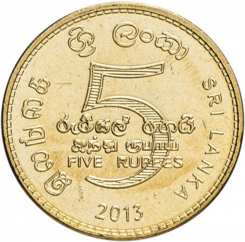 5 рупий. Шри-Ланка. 2013 год. AU-UNC