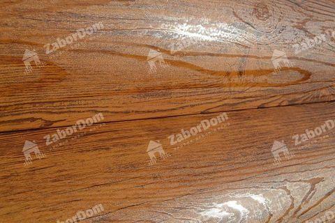 Металлический сайдинг под бревно Металл Профиль блок-хаус Ecosteel Кедр 0,5 мм