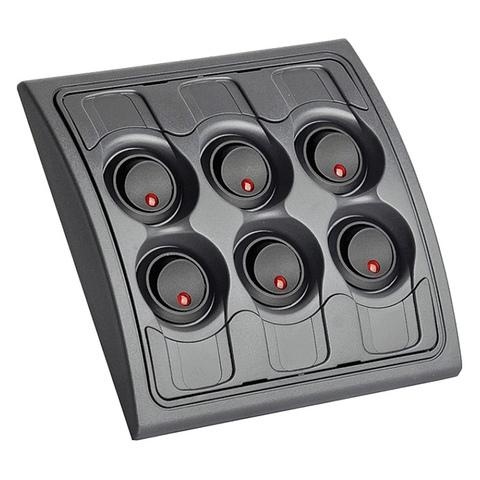 Панель переключателей (6 шт) с предохранителями постоянного тока