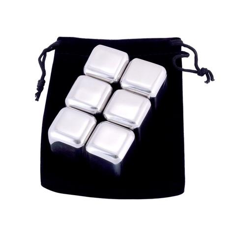 Камни для виски (набор 6шт) из нержавеющей стали