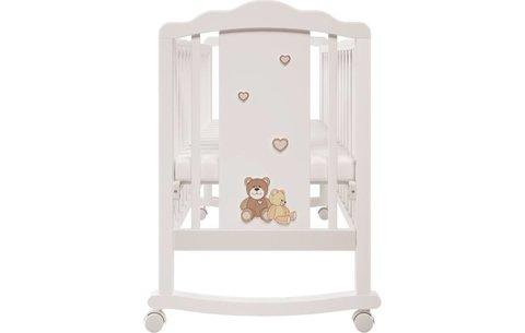 Кроватка детская Polini kids Classic 621 Плюшевые Мишки белый-макиато