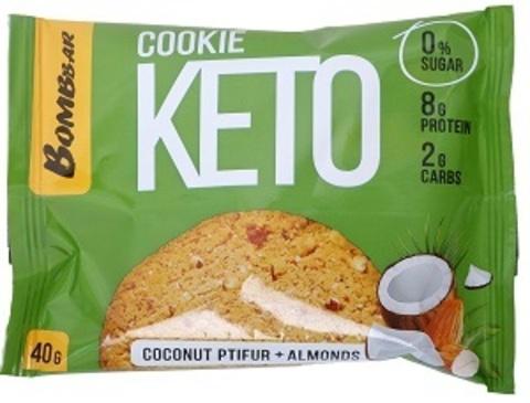 BOMBBAR Печенье Кето Со вкусом кокосового птифура и миндаля 40 г