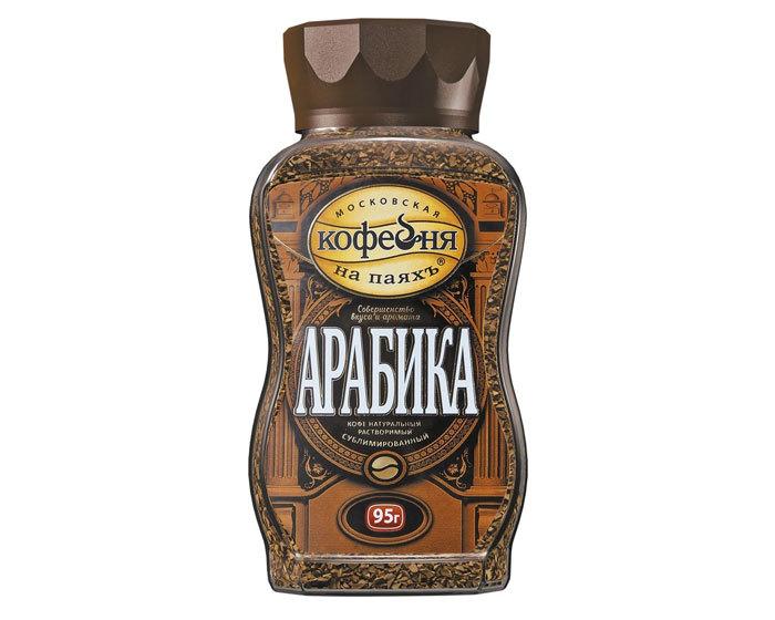 купить Кофе растворимый Московская Кофейня на Паяхъ Арабика, 95 г стеклянная банка