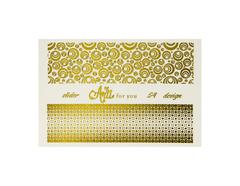 Фольга для дизайна ногтей цвет золото 54