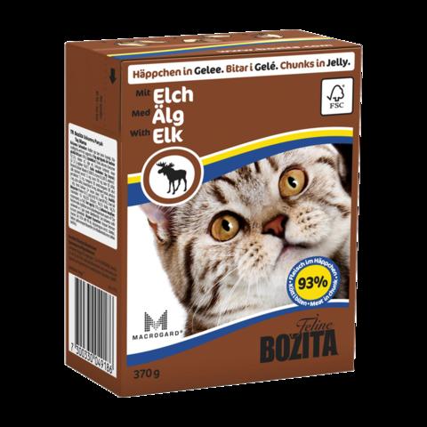 Bozita Консервы для кошек с лосем (кусочки в желе)