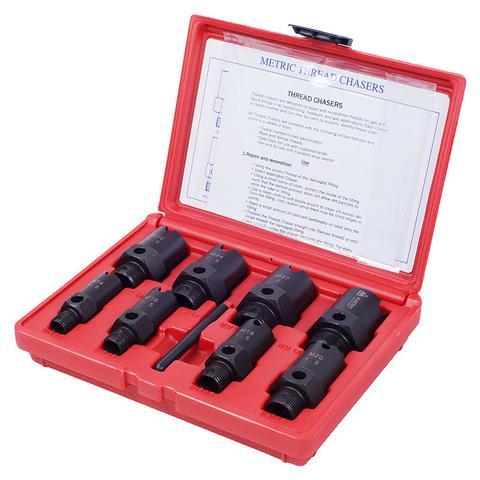 МАСТАК (352-00009C) Набор для восстановления резьб штуцеров системы кондиционирования, кейс, 9 предметов