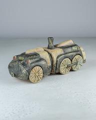 Скульптура из шамотной глины «Паровоз», 27×10×11 см, Falco Ceramic
