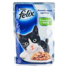 """Корм для кошек Felix """"С кроликом в желе"""" 85г"""