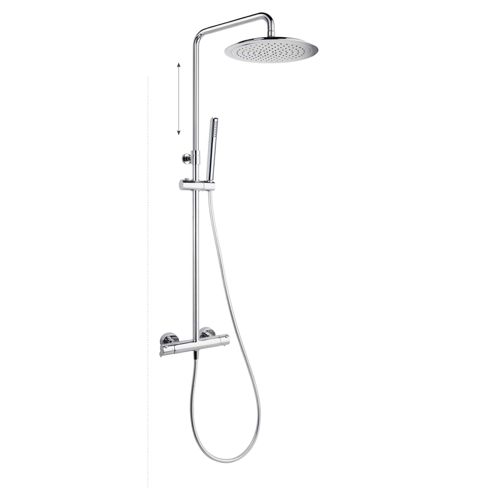Душевая система с термостатом и тропическим душем для ванны BLAUTHERM 945402RM300