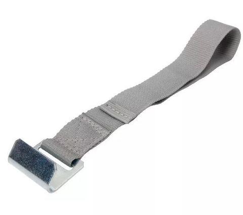 Ремень серый с плоским крюком для замка нержавеющий