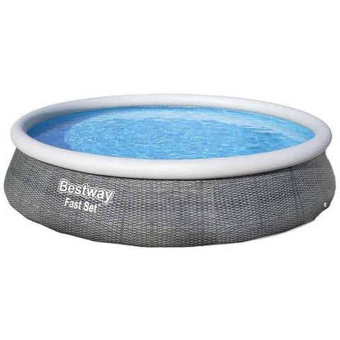 Надувной бассейн Bestway Ротанг 57376 (396x84 см) с картриджным фильтром / 22713