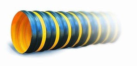ПВХ Tex PVC - F 300 d130 1м Воздуховод на основе полиэфирной ткани, пропитанной