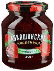 """Варенье """"Лукашинские"""" клубничное домашнее ГОСТ ст/б 450г"""
