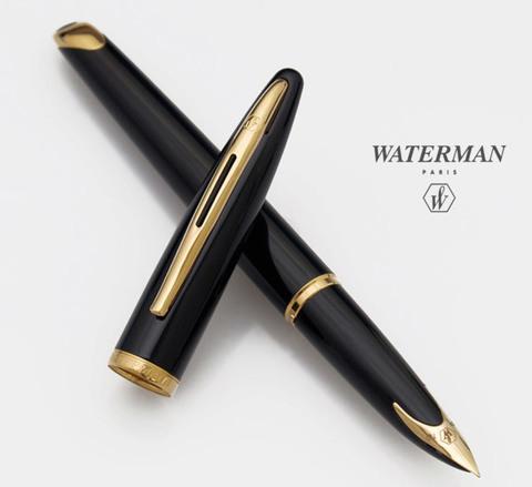 Перьевая ручка Waterman Carene, цвет: Black GT, перо: F123