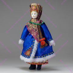 Кукла в русском народном костюме Зимушка