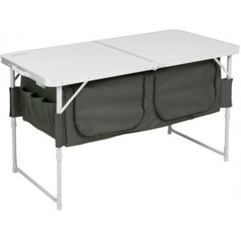 Стол складной алюминиевый с отделением под посуду Helios T-HS-TA-519