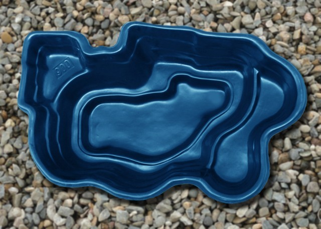 Пруд садовый 900л 2500х1500x600мм синий