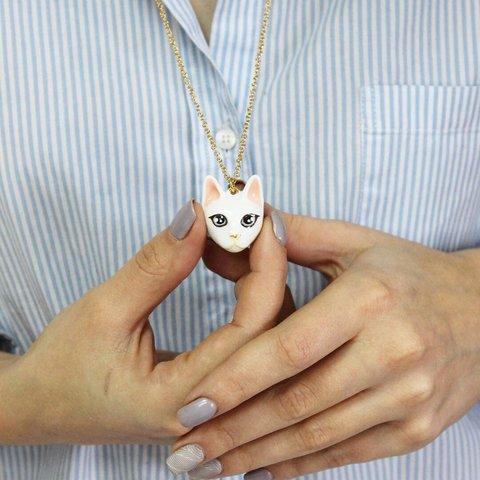 Колье Кошка (белая)