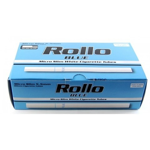 Micro Slim ! Сигаретные гильзы Rollo Blue 200 шт. 5,5 mm.