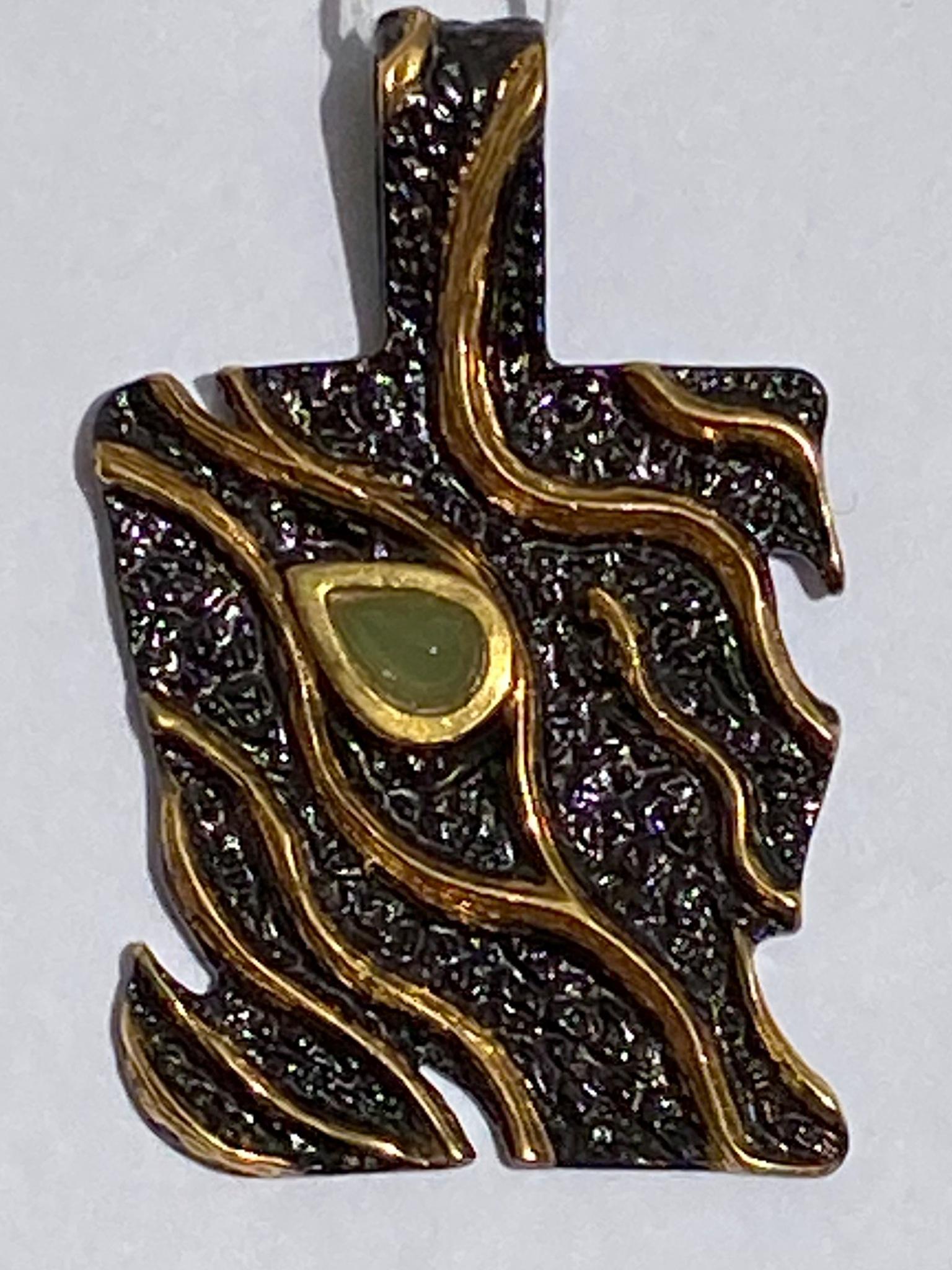 Тейма-нефрит(подвеска  из серебра)