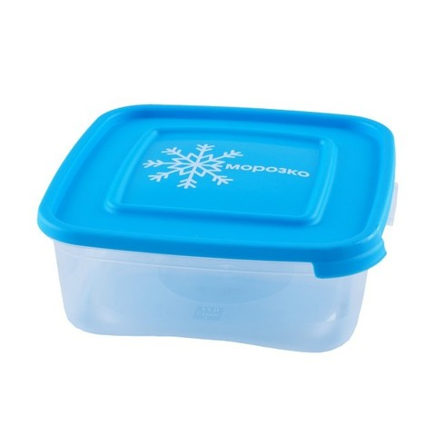 Контейнер д/замораживания продуктов 0,7л Морозко квадрат,полипропилен арт.64006