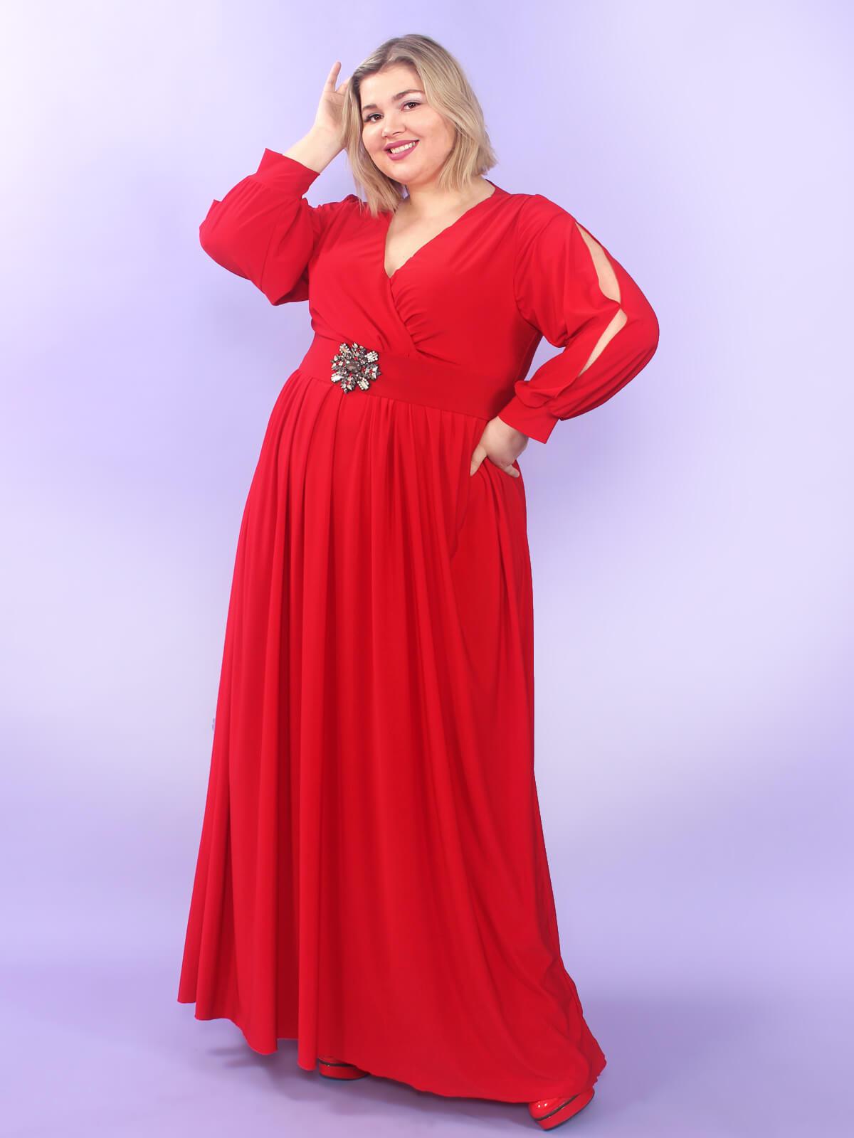 Платье в пол нарядное для полной девушки