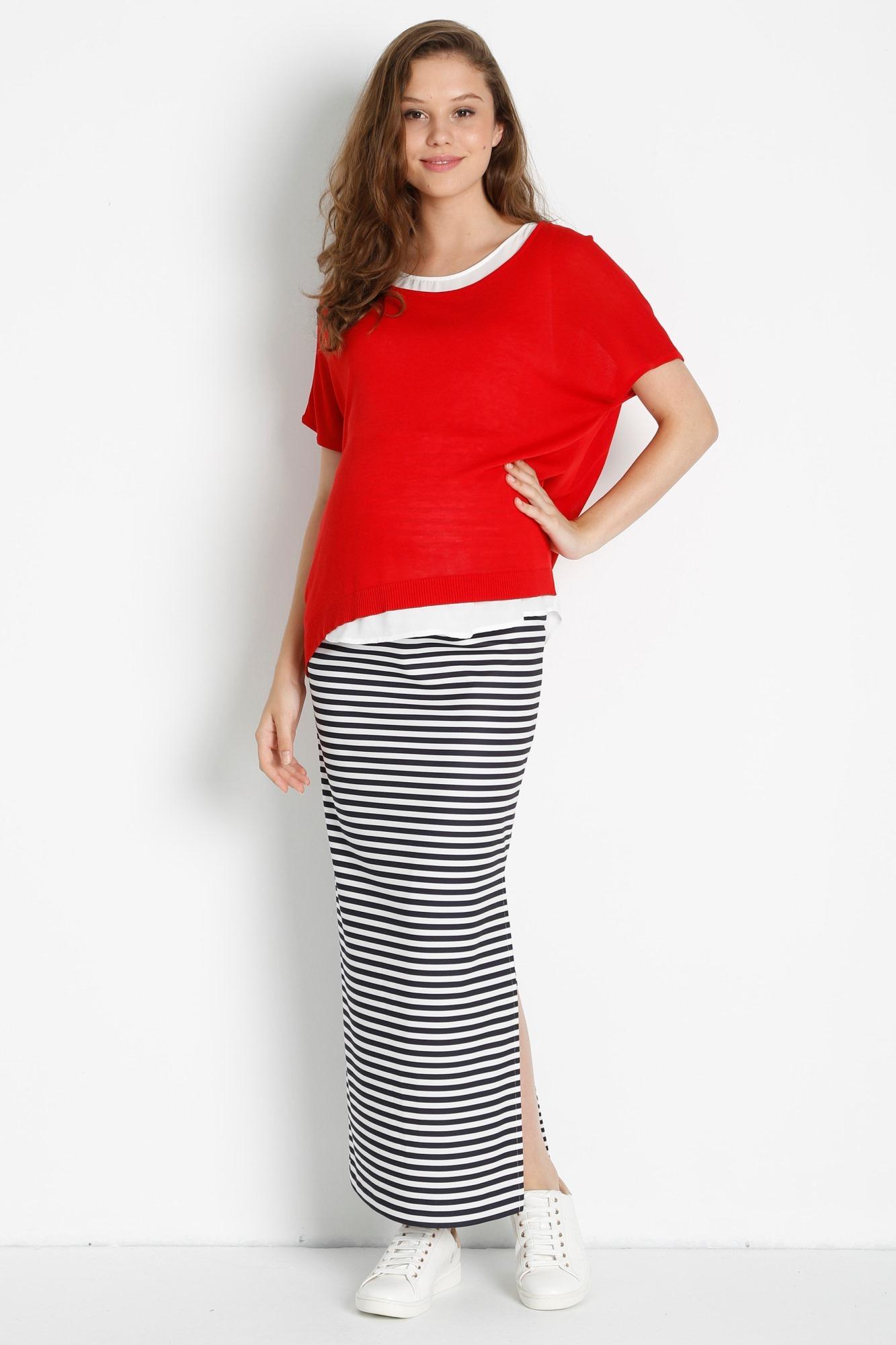 Блузка для беременных 08422 красный