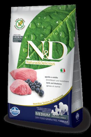 купить Farmina N&D Lamb & Blueberry Adult Medium ягненок и черника