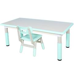Пластиковый регулируемый прямоугольный стол + 1 стул
