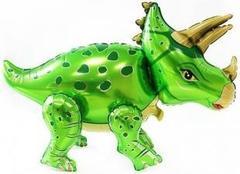 К Ходячая фигура, Динозавр Трицератопс, Зеленый, 36''/91см.