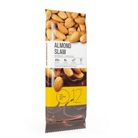 Вафельный батончик О12 с белковой начинкой с какао и миндалем в молочном шоколаде