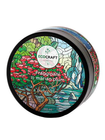 ECOCRAFT Крем для тела Frangipani and Marian plum Франжипани и марианская слива (150 мл)