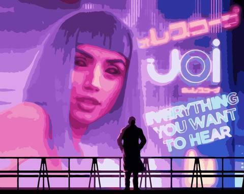 Картина по номерам на холсте Blade Runner, 40см*50см