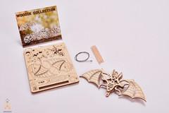 Вудик Летучая Мышь Wood Trick - деревянный конструктор, сборная миниатюрная модель, 3D пазл