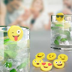 Маркеры для бокалов Emoji 8шт., фото 1