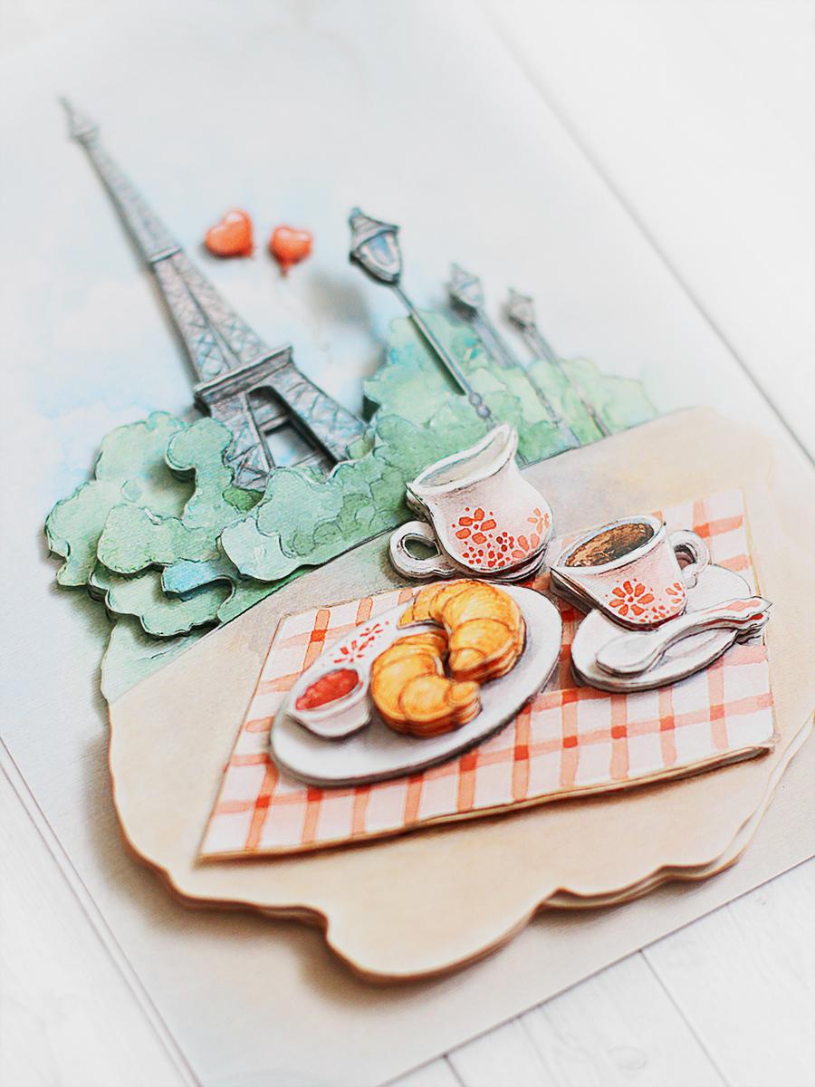 Папертоль Завтрак в Париже - готовая работа, вид снизу