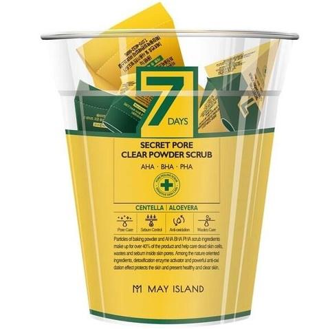 MAY ISLAND 7Days Скраб для лица Secret pore clear powder scrub 12 шт по 5 гр