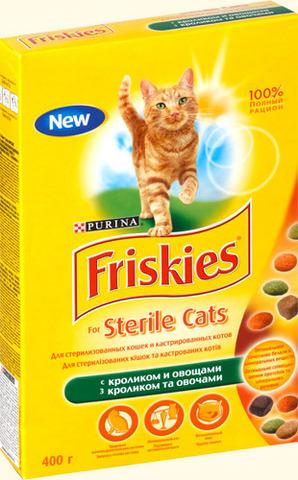 Friskies Сухой корм для стерилизованных кошек с кроликом и овощами, 400г