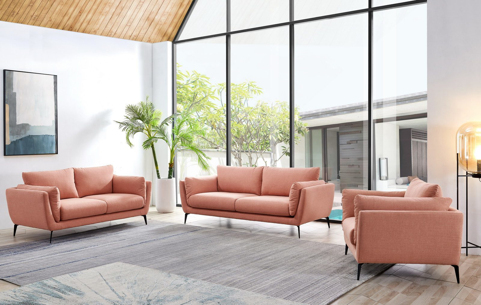 Набор мягкой мебели AMSTERDAM 5176 coral