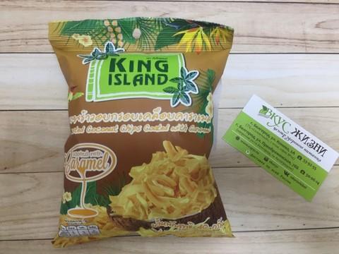 Кокосовые чипсы с карамелью KING ISLAND, 40г