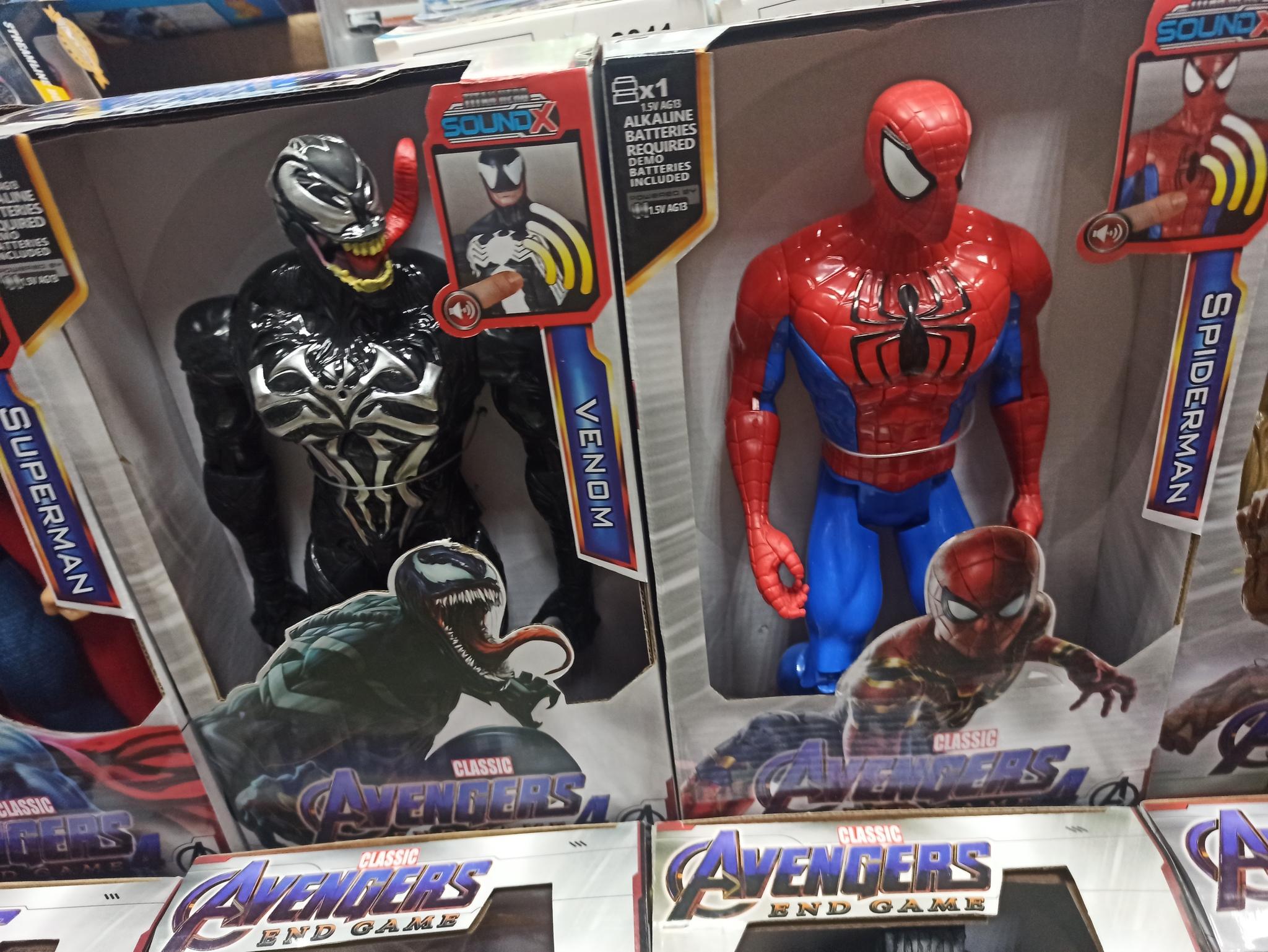 Человек паук и Веном 30 см