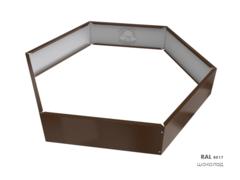 Клумба многоугольная оцинкованная 1 ярус RAL 8017 Шоколад