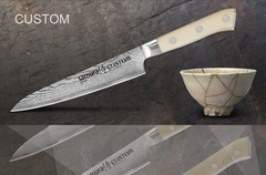 SCU-0023 Нож кухонный стальной универсальный Samura by Custom