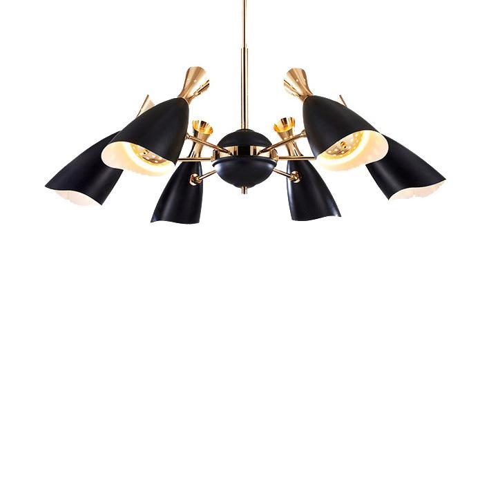 Потолочный светильник копия Duke by Delightfull (6 плафонов, черный)