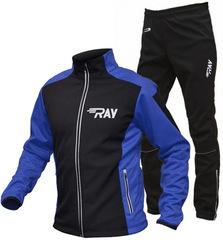 Утеплённый лыжный костюм RAY RACE WS Black-Blue 2018 мужской