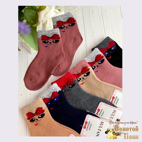 Носки махровые девочке (4-10) 201118-S3590