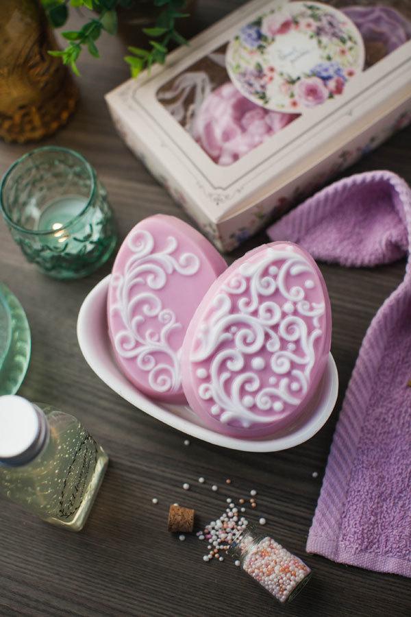 Мыло ручной работы в виде яиц