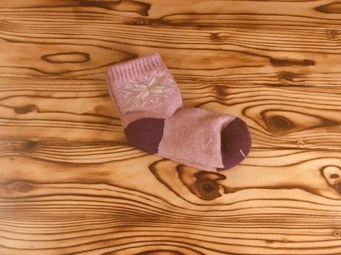 Носки детские из верблюжьей шерсти (розовые) р.6-7 фото1