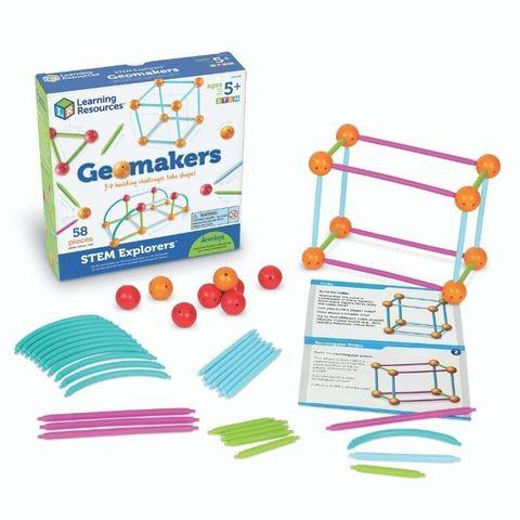 LER9293 Игровой набор Погружение в геометрию СТЕМ, с карточками, Learning Resources