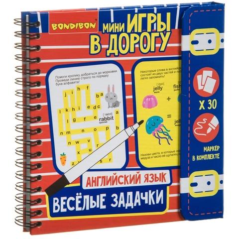 """""""Веселые задачки: Английский язык"""" - Мини-игра в дорогу Bondibon"""